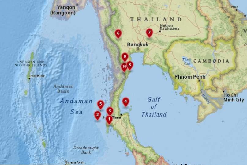 Karta Centrala Thailand.10 Vackraste Nationalparker I Thailand Thailand Frederickesn Org